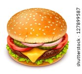 hamburger icon | Shutterstock .eps vector #127899587