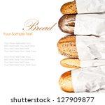 fresh baked traditional bread   Shutterstock . vector #127909877