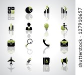 finance and business icons set. ... | Shutterstock . vector #127910657