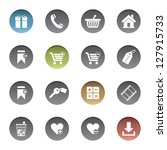 shopping icons | Shutterstock .eps vector #127915733