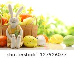 Easter Decoration With Rabbit...