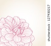 hand drawn floral  background.... | Shutterstock .eps vector #127930217