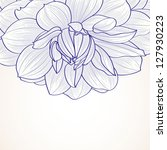 hand drawn floral  background.... | Shutterstock .eps vector #127930223