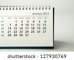 January. Calendar sheet. 2013 year calendar - stock photo