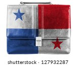 the panama flag painted on... | Shutterstock . vector #127932287