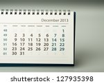 December. Calendar sheet. 2013 year calendar - stock photo