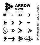 vector set of black arrow icons ... | Shutterstock .eps vector #127939397