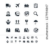 Logistics and shipping icons - stock vector