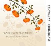 vector illustration of flower...   Shutterstock .eps vector #127961483