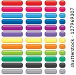 3d rectangular buttons of... | Shutterstock . vector #127969307