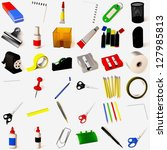 stationery collection | Shutterstock . vector #127985813
