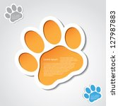 advertising,animal,badge,banner,bear,cartoon,cat,claws,dog,foot,foot print,footprint,graphic,hound,illustration
