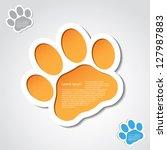 Cat Paw Banner   Vector...