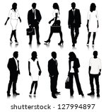 collection of people silhouettes | Shutterstock .eps vector #127994897