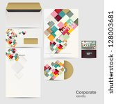 Corporate identity kit - stock vector