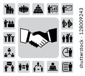 business and office icons set....   Shutterstock .eps vector #128009243