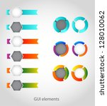 GUI elements Set - stock vector