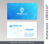 business card set.  vector... | Shutterstock .eps vector #128022167