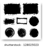 set of grunge elements. vector... | Shutterstock .eps vector #128025023
