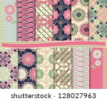 Abstract Floral Vector Set Of...