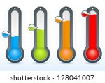 thermometer vector icons   Shutterstock .eps vector #128041007