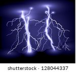 lighting bolt background | Shutterstock .eps vector #128044337