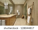 master bath in luxury home with ... | Shutterstock . vector #128044817