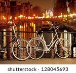 Bikes Parked On Bridge In...
