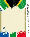 grunge south africa flag. a... | Shutterstock .eps vector #128057153