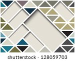 abstract geometrical design | Shutterstock .eps vector #128059703