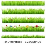green grass collection | Shutterstock .eps vector #128068403