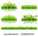 green grass collection | Shutterstock .eps vector #128068553