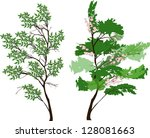 illustration with green trees... | Shutterstock .eps vector #128081663