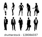 business people | Shutterstock . vector #128086037