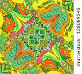 light summer pattern with... | Shutterstock .eps vector #128089343