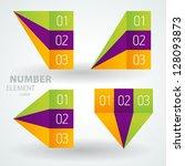 number list perspective arrow... | Shutterstock .eps vector #128093873