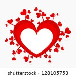 red heart with many little... | Shutterstock .eps vector #128105753