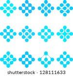 design element. abstract water... | Shutterstock .eps vector #128111633