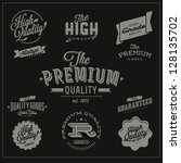 Premium, High quality and guarantee labels - editable - stock vector