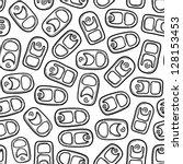 Doodle Style Aluminum  Soda  O...