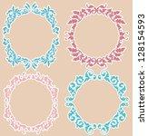 calligraphic design elements... | Shutterstock . vector #128154593