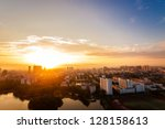 Sunrise Over City Of Fuzhou...