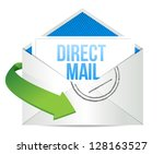 advertising Direct Mail working concept illustration design over a white background - stock photo