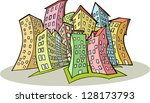 colorful city | Shutterstock .eps vector #128173793