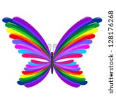 Butterfly Rainbow Abstract Design - stock photo