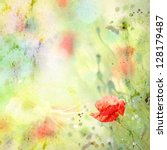 Scenic Watercolor Background ...