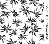 palm tree leaf seamless pattern | Shutterstock .eps vector #128183723