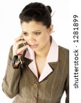 beautiful hispanic business... | Shutterstock . vector #1281899