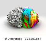 a typical brain with the left...   Shutterstock . vector #128201867