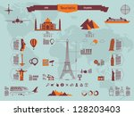 landmark info graphics | Shutterstock .eps vector #128203403